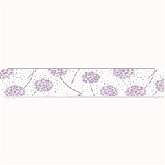 Purple Tulip Flower Floral Polkadot Polka Spot Small Bar Mats by Mariart