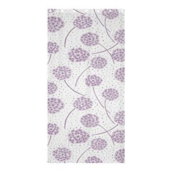 Purple Tulip Flower Floral Polkadot Polka Spot Shower Curtain 36  X 72  (stall)  by Mariart