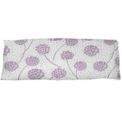 Purple Tulip Flower Floral Polkadot Polka Spot Body Pillow Case Dakimakura (two Sides) by Mariart