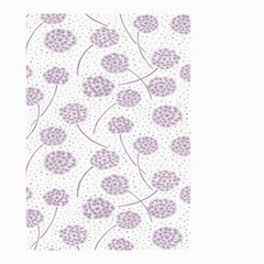 Purple Tulip Flower Floral Polkadot Polka Spot Small Garden Flag (two Sides) by Mariart