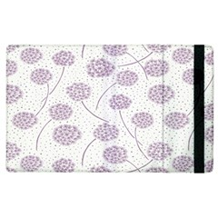 Purple Tulip Flower Floral Polkadot Polka Spot Apple Ipad 2 Flip Case by Mariart