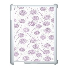 Purple Tulip Flower Floral Polkadot Polka Spot Apple Ipad 3/4 Case (white) by Mariart