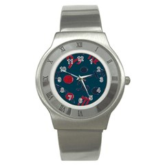 Zodiac Signs Planets Blue Red Space Stainless Steel Watch