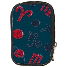 Zodiac Signs Planets Blue Red Space Compact Camera Cases by Mariart