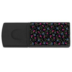 Floral Pattern Usb Flash Drive Rectangular (4 Gb) by ValentinaDesign