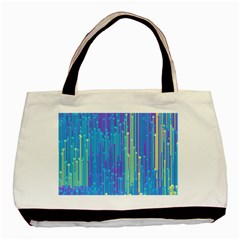 Vertical Behance Line Polka Dot Blue Green Purple Basic Tote Bag by Mariart