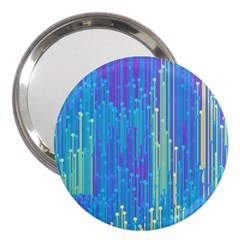 Vertical Behance Line Polka Dot Blue Green Purple 3  Handbag Mirrors by Mariart