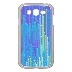 Vertical Behance Line Polka Dot Blue Green Purple Samsung Galaxy Grand Duos I9082 Case (white) by Mariart