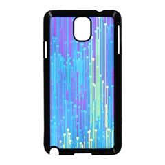 Vertical Behance Line Polka Dot Blue Green Purple Samsung Galaxy Note 3 Neo Hardshell Case (black) by Mariart