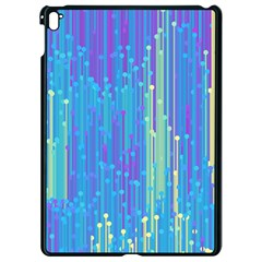 Vertical Behance Line Polka Dot Blue Green Purple Apple Ipad Pro 9 7   Black Seamless Case