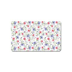 Floral Pattern Magnet (name Card) by ValentinaDesign