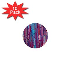 Vertical Behance Line Polka Dot Blue Green Purple Red Blue Black 1  Mini Magnet (10 Pack)  by Mariart