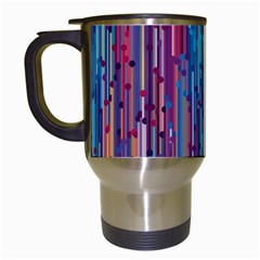 Vertical Behance Line Polka Dot Blue Green Purple Red Blue Black Travel Mugs (white) by Mariart