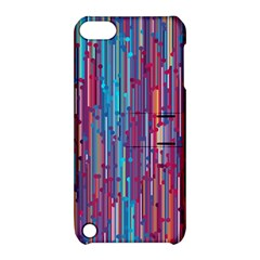 Vertical Behance Line Polka Dot Blue Green Purple Red Blue Black Apple Ipod Touch 5 Hardshell Case With Stand by Mariart