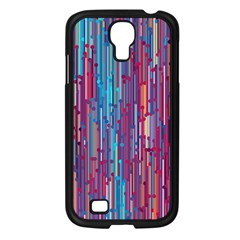 Vertical Behance Line Polka Dot Blue Green Purple Red Blue Black Samsung Galaxy S4 I9500/ I9505 Case (black) by Mariart