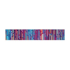 Vertical Behance Line Polka Dot Blue Green Purple Red Blue Black Flano Scarf (mini)