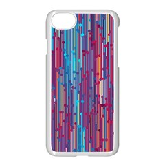 Vertical Behance Line Polka Dot Blue Green Purple Red Blue Black Apple Iphone 7 Seamless Case (white) by Mariart