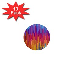Vertical Behance Line Polka Dot Blue Red Orange 1  Mini Magnet (10 Pack)  by Mariart