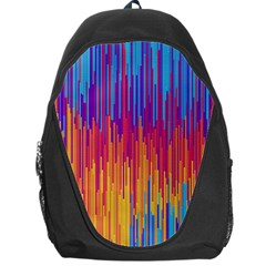 Vertical Behance Line Polka Dot Blue Red Orange Backpack Bag