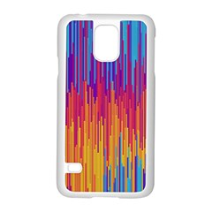 Vertical Behance Line Polka Dot Blue Red Orange Samsung Galaxy S5 Case (white) by Mariart