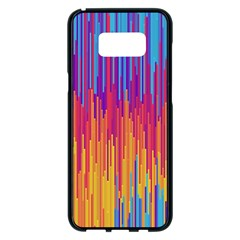Vertical Behance Line Polka Dot Blue Red Orange Samsung Galaxy S8 Plus Black Seamless Case