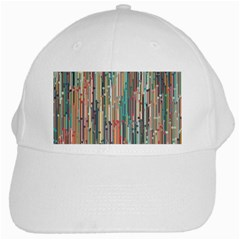 Vertical Behance Line Polka Dot Grey Blue Brown White Cap by Mariart