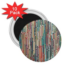 Vertical Behance Line Polka Dot Grey Blue Brown 2 25  Magnets (10 Pack)  by Mariart
