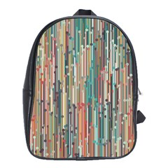 Vertical Behance Line Polka Dot Grey Blue Brown School Bags(large)