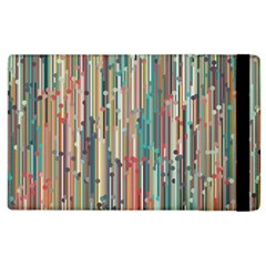 Vertical Behance Line Polka Dot Grey Blue Brown Apple Ipad 2 Flip Case by Mariart