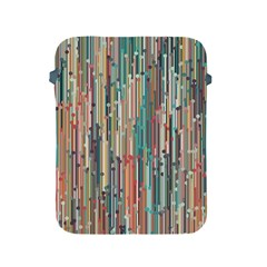 Vertical Behance Line Polka Dot Grey Blue Brown Apple Ipad 2/3/4 Protective Soft Cases by Mariart