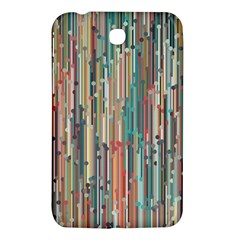 Vertical Behance Line Polka Dot Grey Blue Brown Samsung Galaxy Tab 3 (7 ) P3200 Hardshell Case