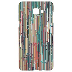 Vertical Behance Line Polka Dot Grey Blue Brown Samsung C9 Pro Hardshell Case  by Mariart