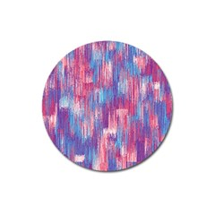 Vertical Behance Line Polka Dot Blue Green Purple Red Blue Small Magnet 3  (round) by Mariart