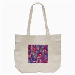 Vertical Behance Line Polka Dot Blue Green Purple Red Blue Small Tote Bag (cream) by Mariart