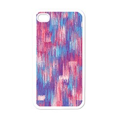 Vertical Behance Line Polka Dot Blue Green Purple Red Blue Small Apple Iphone 4 Case (white)