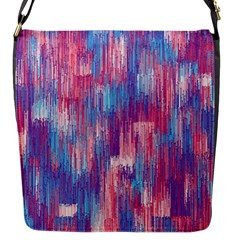Vertical Behance Line Polka Dot Blue Green Purple Red Blue Small Flap Messenger Bag (s) by Mariart