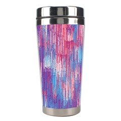 Vertical Behance Line Polka Dot Blue Green Purple Red Blue Small Stainless Steel Travel Tumblers by Mariart