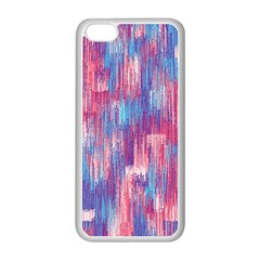 Vertical Behance Line Polka Dot Blue Green Purple Red Blue Small Apple Iphone 5c Seamless Case (white) by Mariart