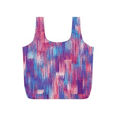 Vertical Behance Line Polka Dot Blue Green Purple Red Blue Small Full Print Recycle Bags (s)  by Mariart