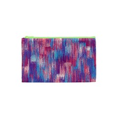 Vertical Behance Line Polka Dot Blue Green Purple Red Blue Small Cosmetic Bag (xs) by Mariart