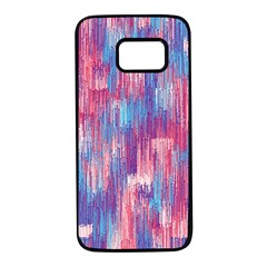 Vertical Behance Line Polka Dot Blue Green Purple Red Blue Small Samsung Galaxy S7 Black Seamless Case by Mariart