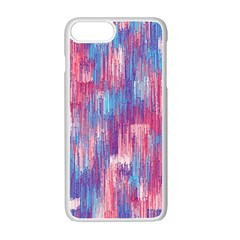 Vertical Behance Line Polka Dot Blue Green Purple Red Blue Small Apple Iphone 7 Plus White Seamless Case