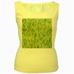 Vertical Behance Line Polka Dot Grey Women s Yellow Tank Top