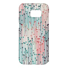 Vertical Behance Line Polka Dot Grey Pink Samsung Galaxy S7 Edge Hardshell Case by Mariart