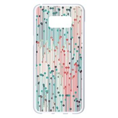 Vertical Behance Line Polka Dot Grey Pink Samsung Galaxy S8 Plus White Seamless Case