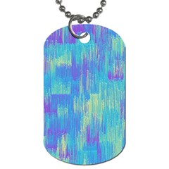 Vertical Behance Line Polka Dot Purple Green Blue Dog Tag (two Sides) by Mariart