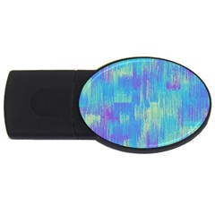Vertical Behance Line Polka Dot Purple Green Blue Usb Flash Drive Oval (2 Gb) by Mariart