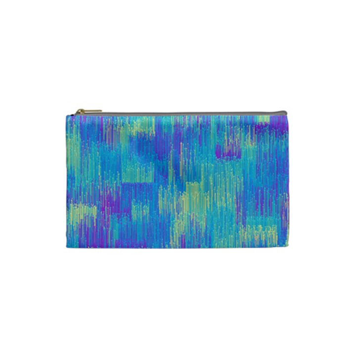 Vertical Behance Line Polka Dot Purple Green Blue Cosmetic Bag (Small)