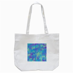 Vertical Behance Line Polka Dot Purple Green Blue Tote Bag (white) by Mariart