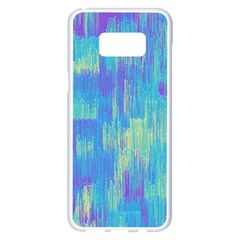 Vertical Behance Line Polka Dot Purple Green Blue Samsung Galaxy S8 Plus White Seamless Case by Mariart